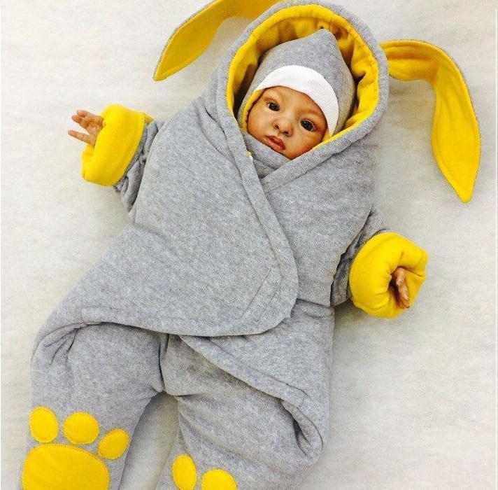 Комбинезон для новорождённого своими руками 870