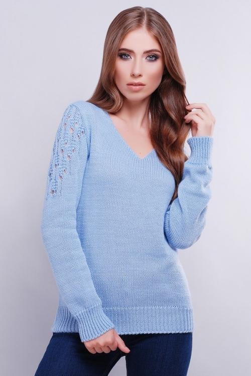Женский голубой свитер с доставкой