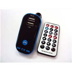 FM-модулятор № 617 (2 USB, AUX, micro SD) + bluetooth