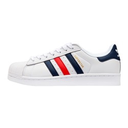 Кроссовки Adidas Superstar Foundation White Blue Red арт 5014-3