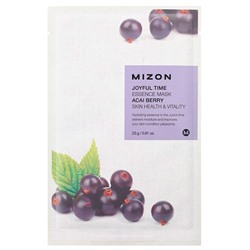 Mizon Joyful Time Essence Mask Acai Berry 23 г Тканевая маска для лица с экстрактом ягод асаи