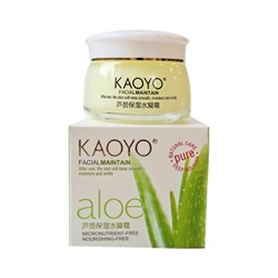 "KAOYO №QY303 Facial Maintain Крем для лица ""Алоэ"", 60г, СТЕКЛО"