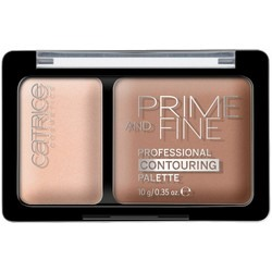 CATRICE Prime And Fine Professional Contouring Palette Ashy Radiance - Палетка для контуринга, тон 010, 10 гр